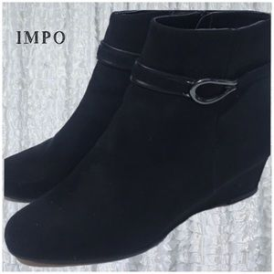 IMPO BLACK SHOE BOOTIE Wedge  GINIA 8.5 W